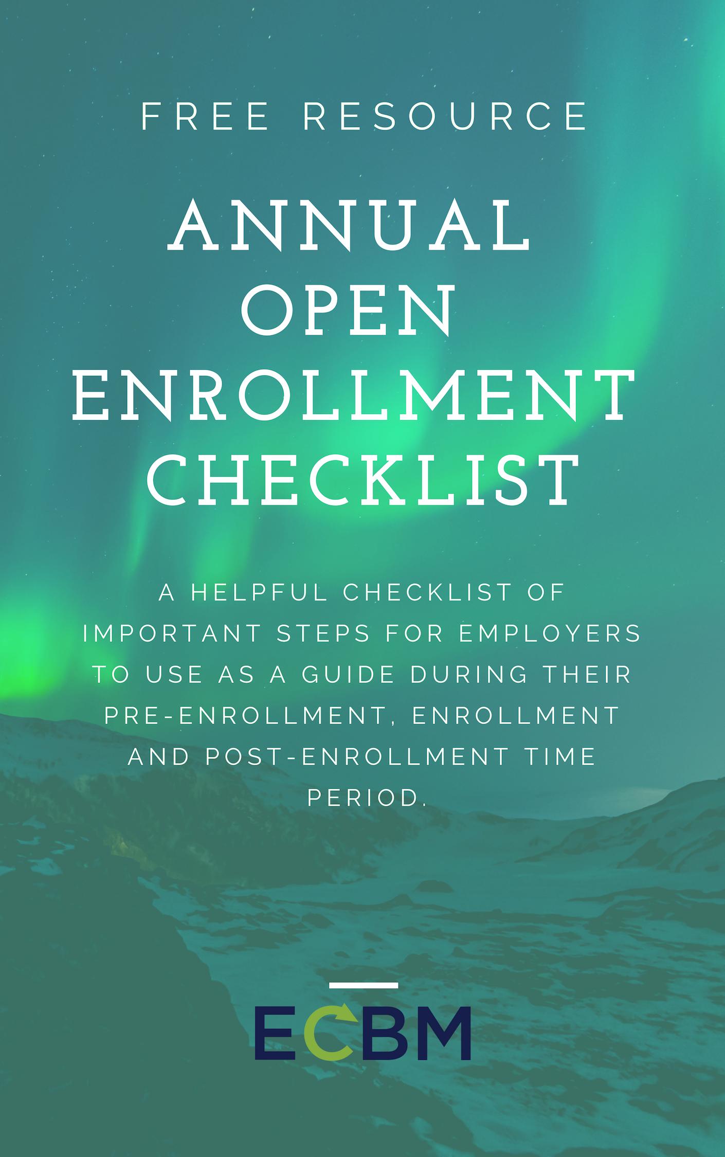 Annual Open Enrollment Checklist