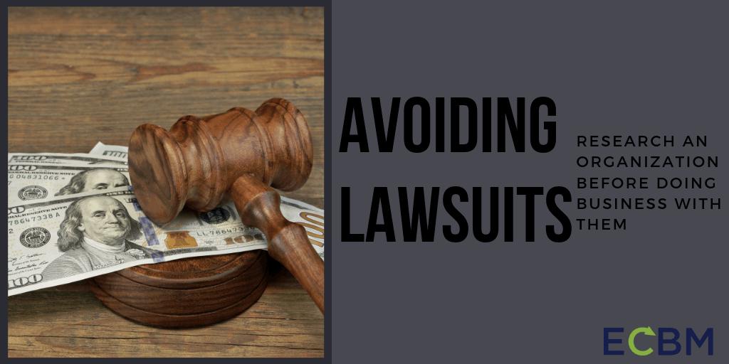 Avoiding Lawsuits