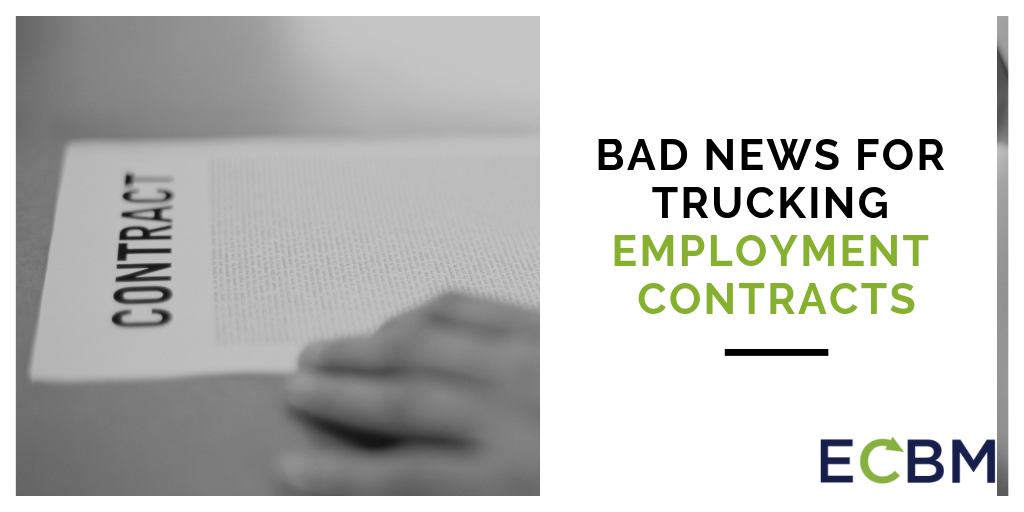 Bad News For Trucking Employment Contracts person signing contract