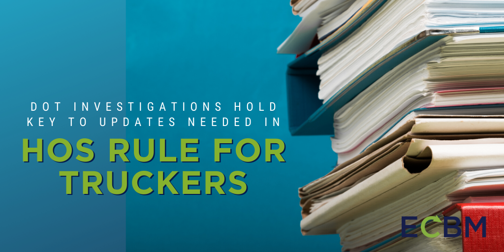 DOT Investigations Hold Key To Updates Needed In HOS Rule For Truckers