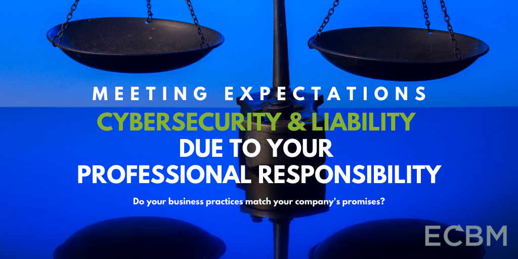 Meeting Expectations cybersecurity and liability due to your professional responsibility