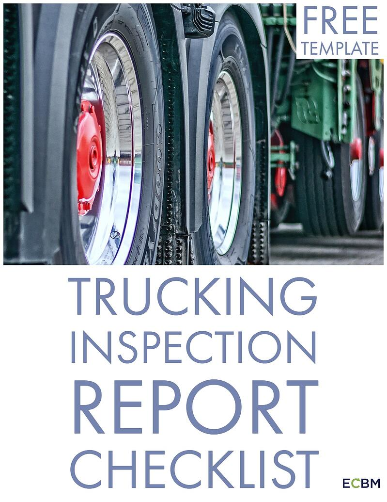 Trucking Inspection Report Checklist Template Button letter