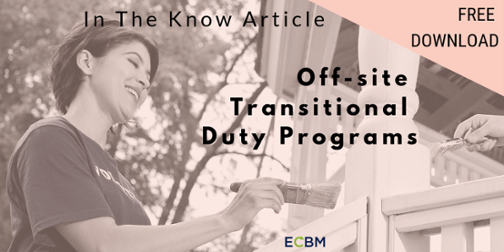 Off-site Transitional Duty Programs Article Download Now