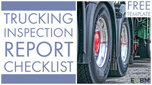 click to download Trucking Inspection Report Checklist Template