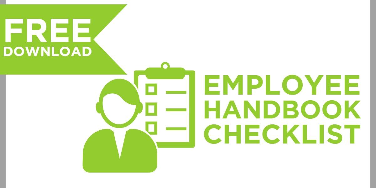 Employee Handbook Checklist Free Download Button