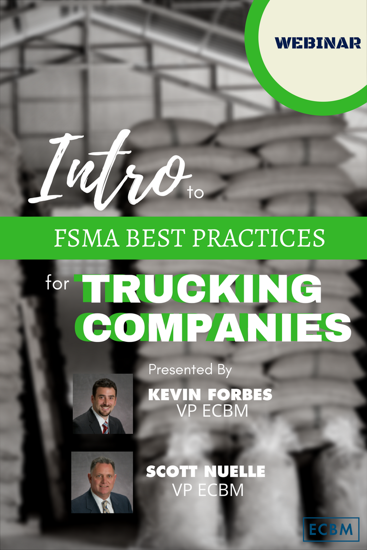 Webinar: Intro to FSMA Best Practices for Trucking Companies